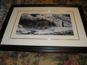 Black Wolves matted & framed signed print #/250  Lawrence A Dyer