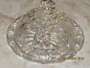 Pin Wheel Crystal - Covered Butter Dish