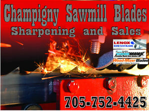 Sawmill blade sharpening