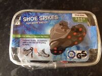 Brand new Shoe spikes for the snow for shoes or wellies sizes 3.5 4 5 6- Christmas present