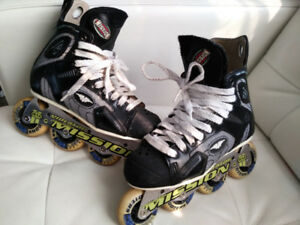 Genuine Mission Violator Roller Hockey skates