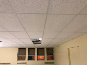 SUSPENDED DROP CEILING INSTALLATION, T-BAR CEILING 647-490-8227