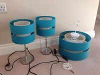 Set of turquoise lamps