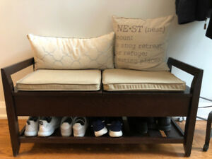 Crate  & Barrel Bench with Storage