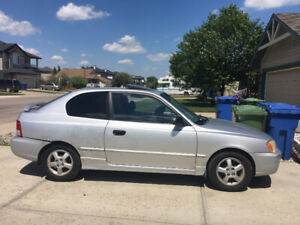 2001 Hyundai Accent GSI - 2 DR Hatchback with sunroof