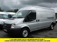 2012 FORD TRANSIT 350/125 LWB MEDIUM ROOF DIESEL VAN IN SILVER *** 1 OWNER FROM