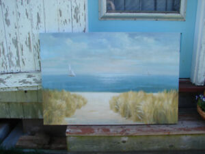 Coastal view picture on canvas