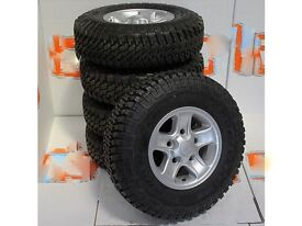 SET OF 5 NEW GENUINE LAND ROVER DEFENDER BOOST ALLOY WHEELS AND GOODYEAR MTR TYRES 235/85 16