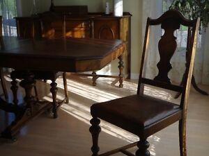 Antique dining room set - ensemble de salle à manger antique Gatineau Ottawa / Gatineau Area image 2