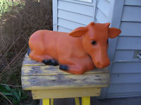 Light Up Cow For Your Garden 20 Inches Long