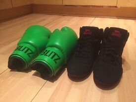 Boxing boot & boxing gloves *****NEW*****