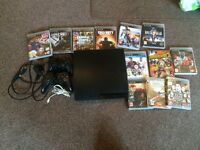 Ps3 slim with 12 games