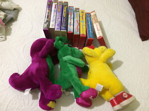 Authentic Barney '& Friends and VHS tapes
