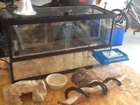 30 gallon front opening snake enclosure with mesh lockable top
