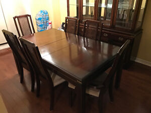 DINING TABLE + 6 CHAIRS AND MATCHING CHINA CABINET/BUFFET!!!!!!
