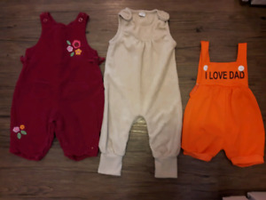 Size 3-6M baby girl's coveralls