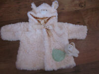 Beautiful Baby Christmas dress with Gund Jacket size 6-9 months