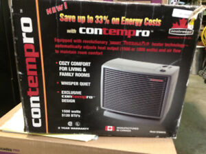 Contempro Space Heater by Sea Breeze 1500 Watts Grey Brand new