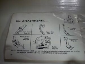 Wanted Singer Sewing Machine Attachments