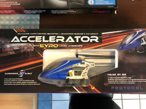 ACCELERATOR PROTOCOL RC HELICOPTER   UNUSED MINT CONDITION