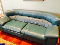 Leather Couch and Loveset