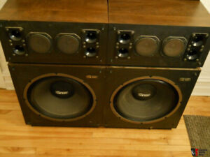 Vintage Audiosphere research 18l speakers 18 in drivers