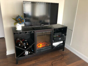 Preowned Fireplace TV Stand - $79
