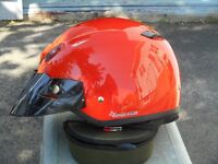 stereo and helmet