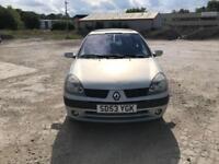 Renault Clio 1.2 Dynamique Billabong 3 DOOR - 2003 53-REG - 3 MONTHS MOT
