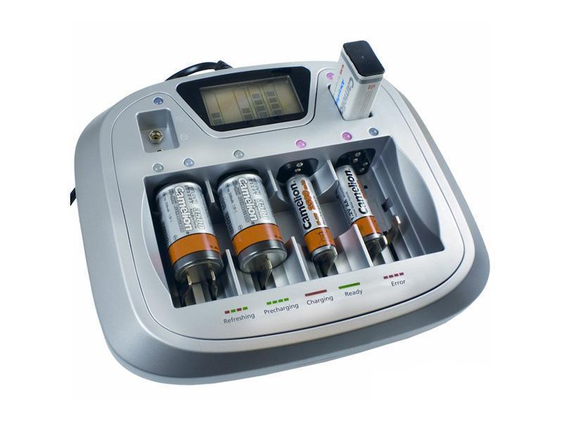 Batterieladegerät A77 Bestes Universalladegerät für AAA AA C D 9V Block Akkus