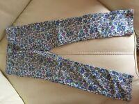 Gap flowery summer jeans age 7