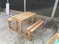 Garden bench homemade