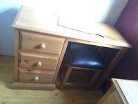 Classic pine computer desk new