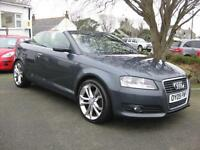2009/09 Audi A3 Cabriolet 2.0 TDI Sport Convertible ~ Heated Seats~Full History.