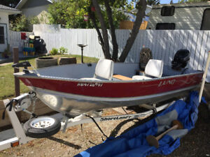 2000Lund 14ft Boat,Trailer and 2015 20hp, 4stroke Mercury