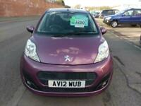 PEUGEOT 107 1.0 ACTIVE IN PURPLE VERY LOW MILES ZERO TAX £0 AIR CON 2012