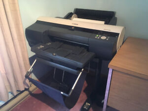 "2 x 17"" Canon IPF 5100 Printers plus Stand, paper and extras"