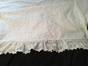 White Eyelet Duvet Cover,Sheets,Bed Skirts,Pillow Shams$20 &up
