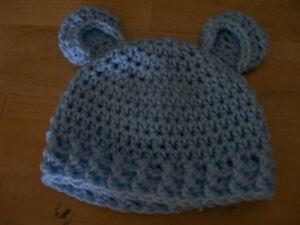 Newborn Crochet Bear Hat