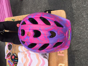 Toddler girl's bike helmet