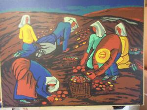"Sampson Matthews Silkscreen ""Potato Pickers"" by Fritz Brandtner!"