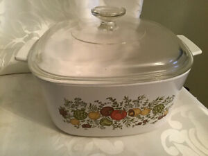1970's Corning Ware Spice of Life Casserole & Cover 3 Litre