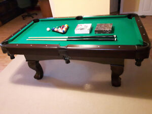 Billiard Table with Poker Top for sale