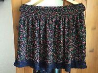 Women's flowery skirt