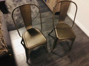 2X Stuctube LOU metal chairs - Dark grey