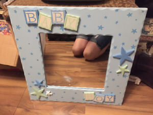 Mirror. baby boy) for infants room.