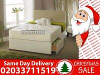 Brand New Double Divan Bed Available with Mattress Baring