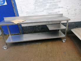Commercial Catering stainless Steel kitchen table