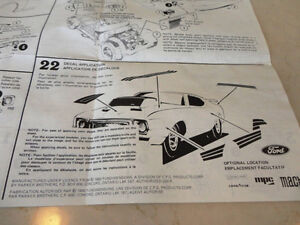 Vintage 1980 MPC Mach 1 Mustang Model Car Instructions Brochure Kitchener / Waterloo Kitchener Area image 3