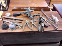 ANTIQUE LOT OF OLD TOOLS  45.00 BUYS IT ALL